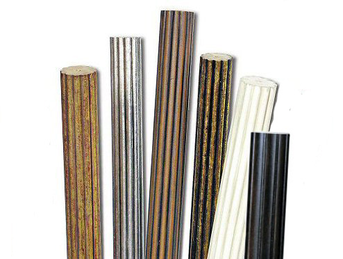 1 3/8 Inch Fluted Drapery Poles