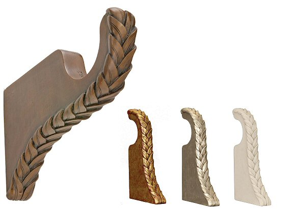 Braided Leaf Drapery Bracket