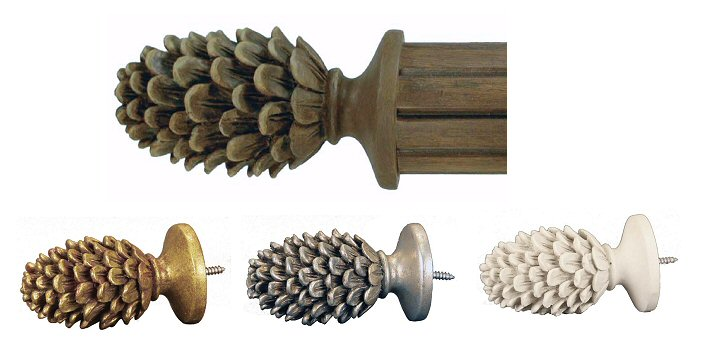Pine Cone Curtain Rods - Rooms