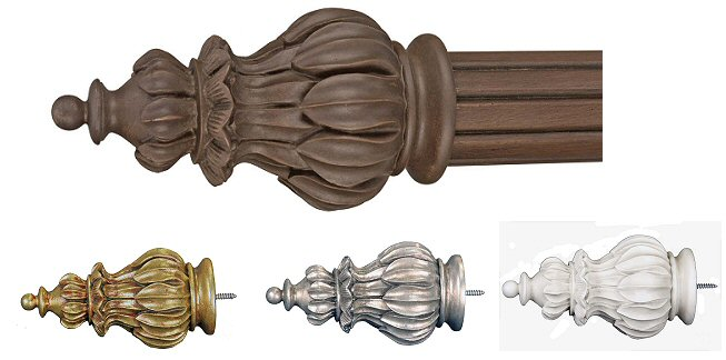 Crown Drapery finial