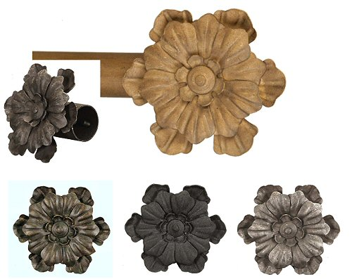 Wrought Iron Flower finials