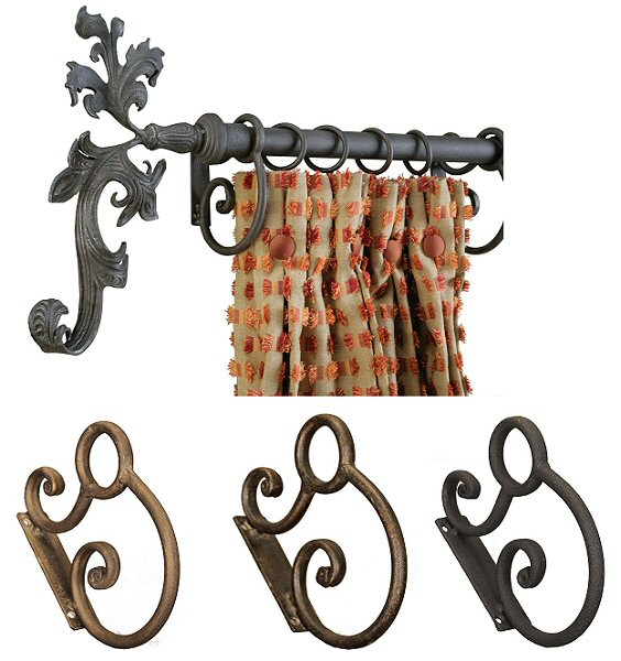 Wrought iron Rolled Bar Brackets