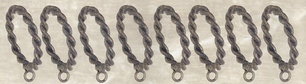 Casa artistica wrought iron drapery hardware twist curtain rings 4