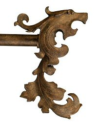 Wrought Iron Gryphon Finials