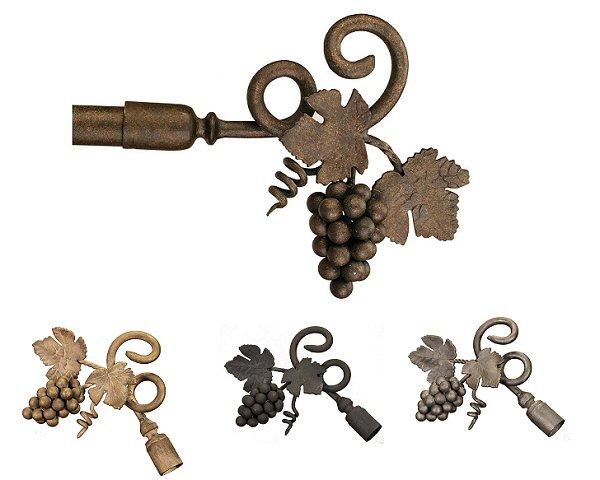 Wrought Iron Grapevine Finials