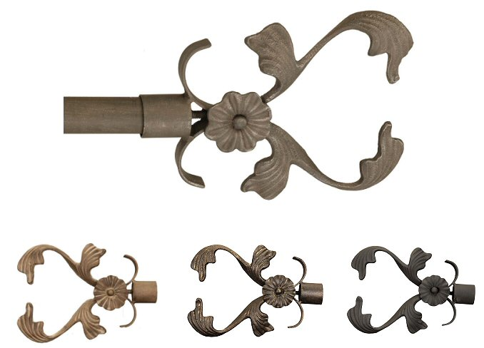 Wrought Iron Floral Vine finials