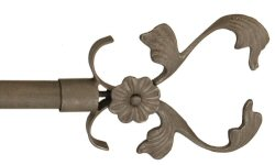 Floral vine wrought iron finial