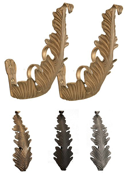 Wrought Iron Acanthus leaf Brackets